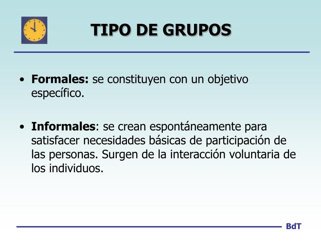 TIPO DE GRUPOS