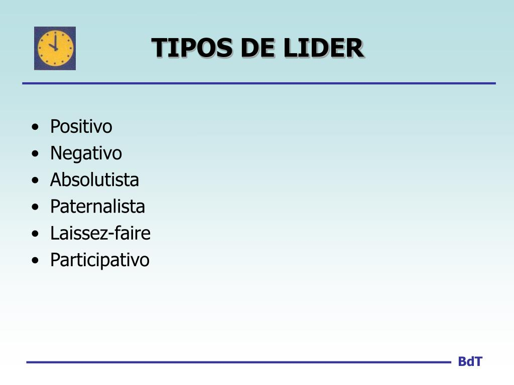 TIPOS DE LIDER
