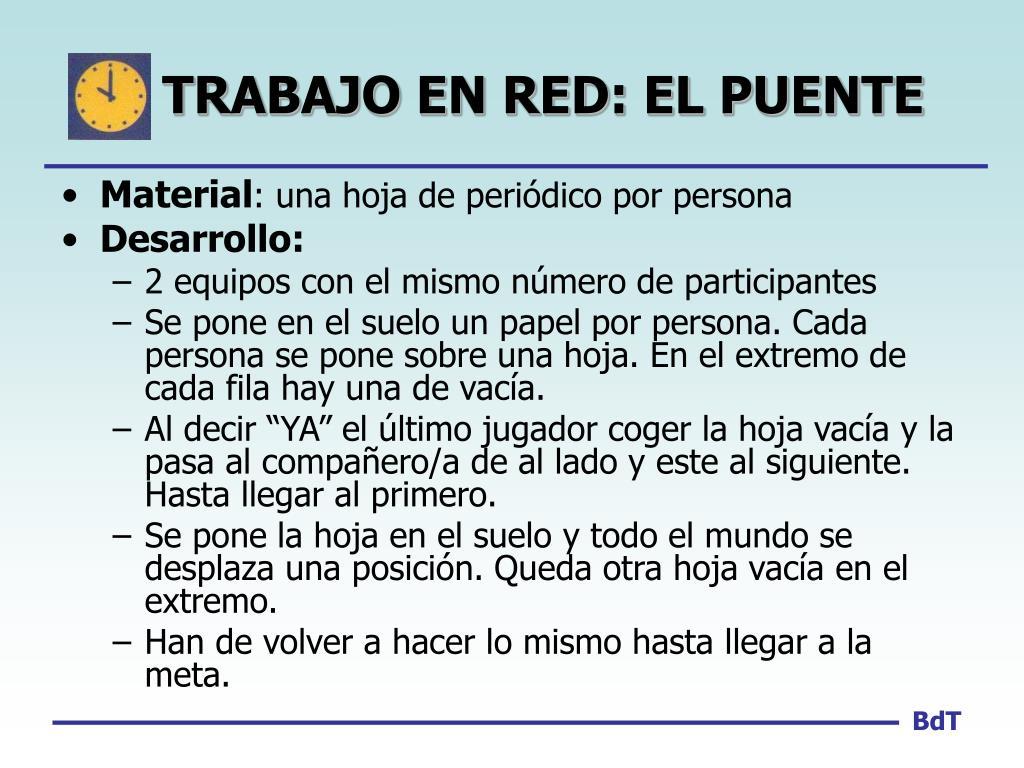TRABAJO EN RED: EL PUENTE