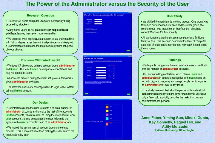 The Power of the Administrator versus the Security of the User