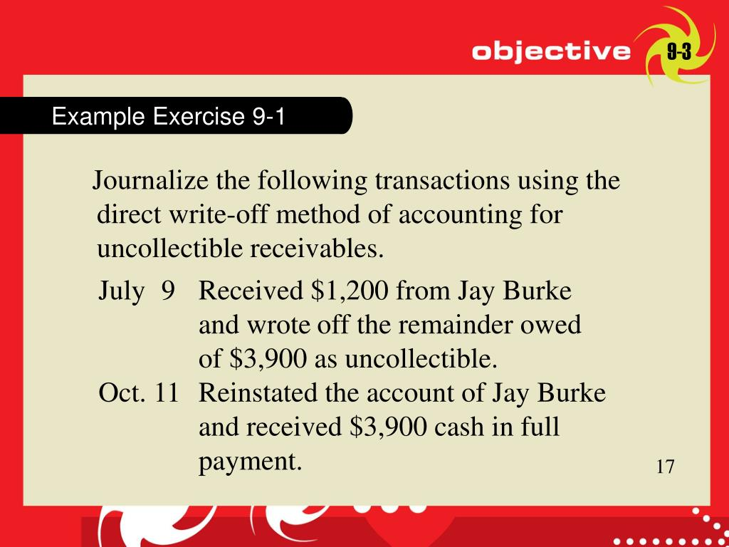 Example Exercise 9-1