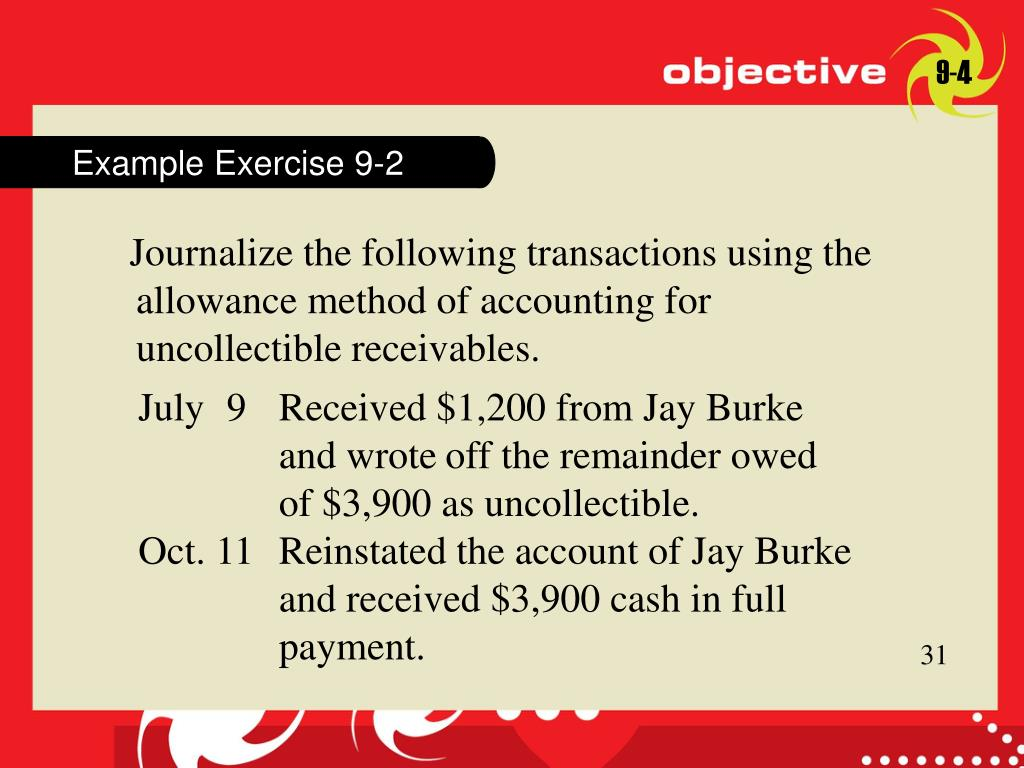Example Exercise 9-2