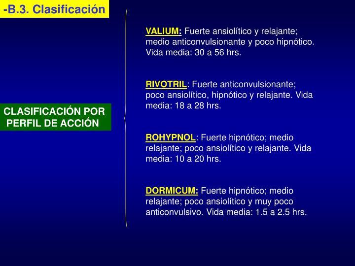 -B.3. Clasificación