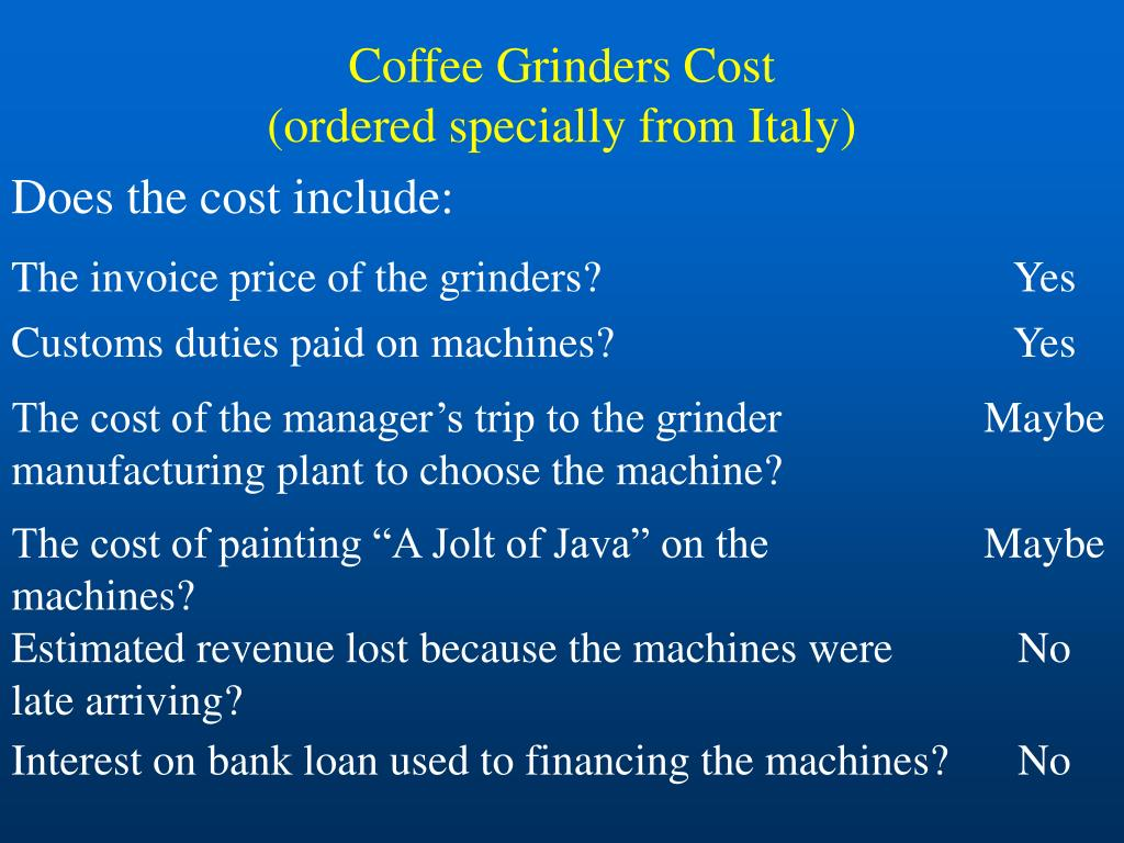 Coffee Grinders Cost