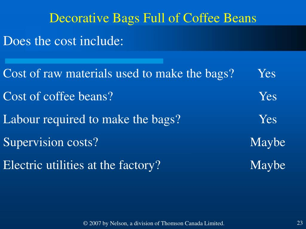 Decorative Bags Full of Coffee Beans