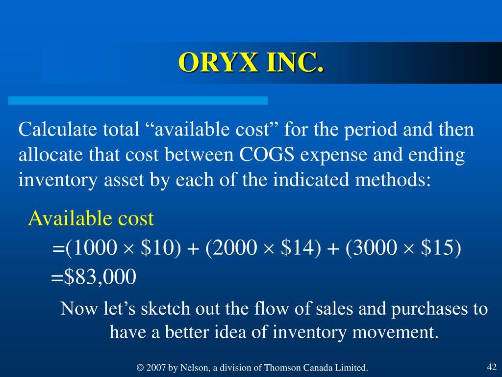 ORYX INC.