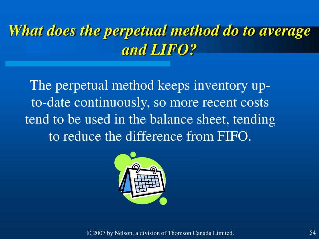 What does the perpetual method do to average and LIFO?