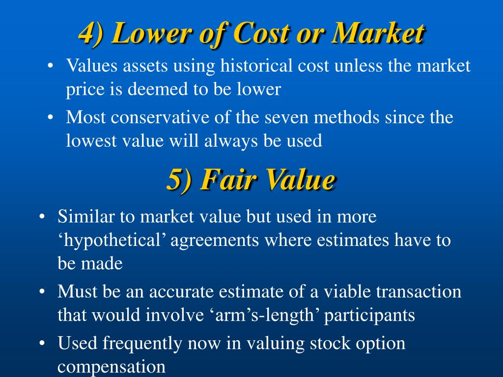4) Lower of Cost or Market