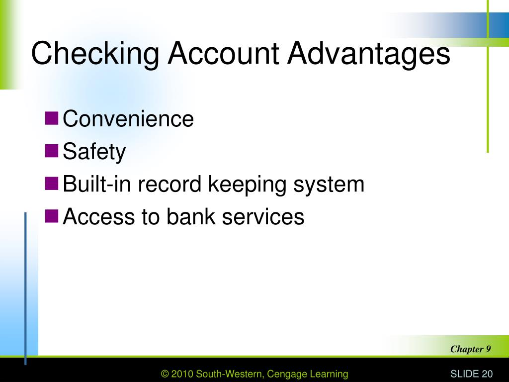Checking Account Advantages
