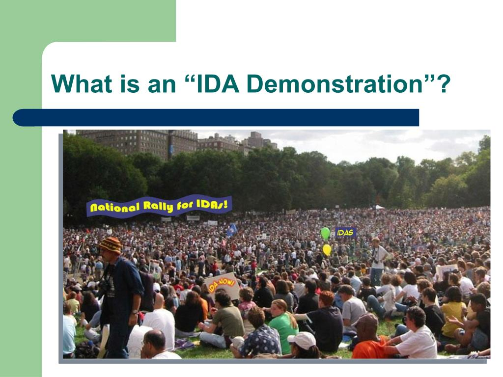 """What is an """"IDA Demonstration""""?"""