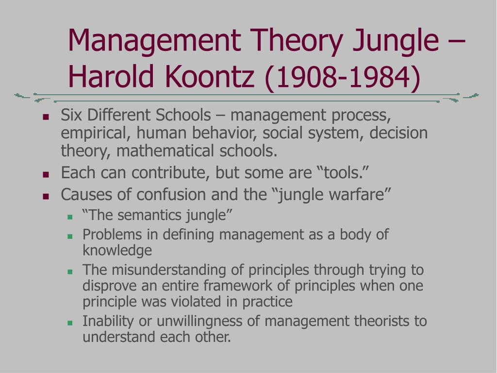 What is management theory?