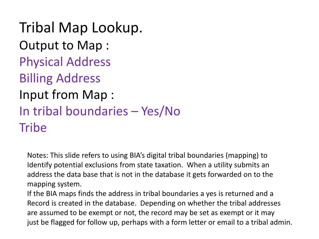 Tribal Map Lookup.