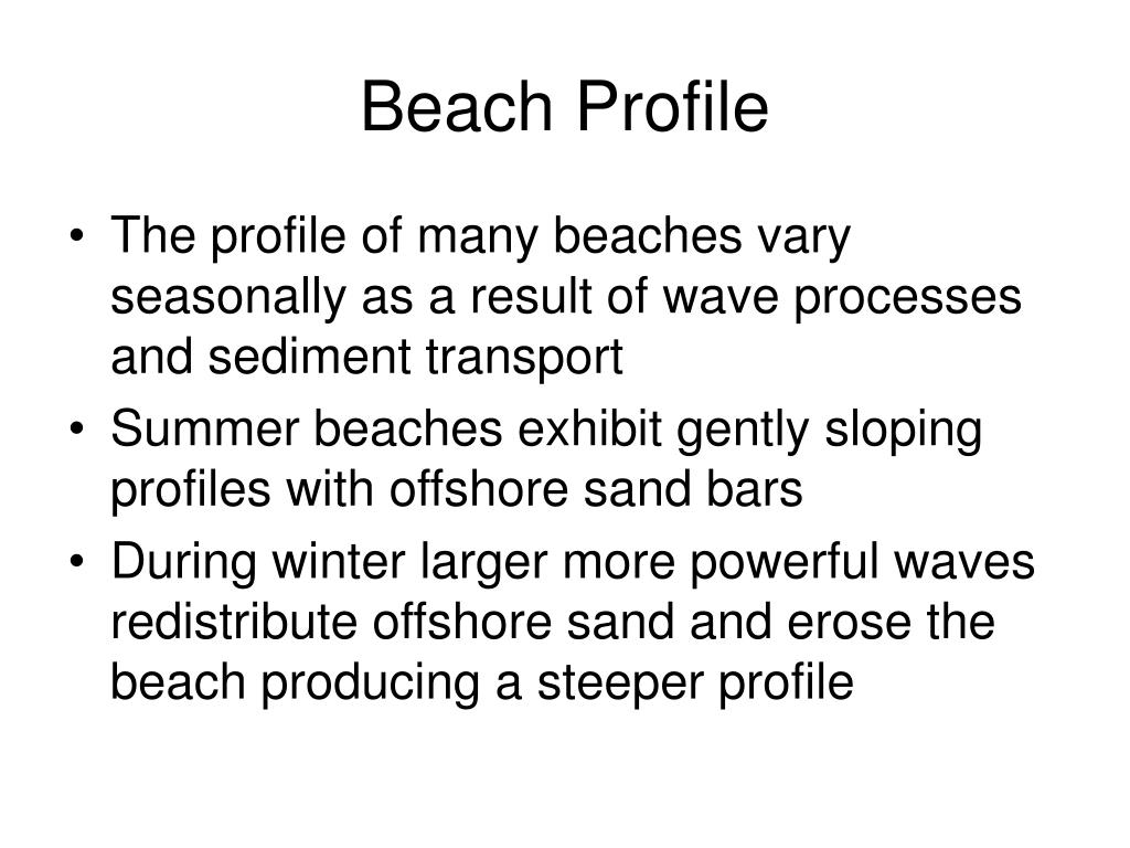 Beach Profile