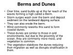berms and dunes