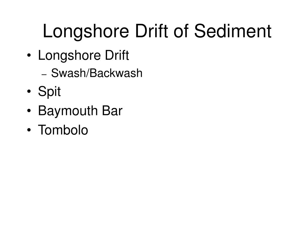 Longshore Drift of Sediment