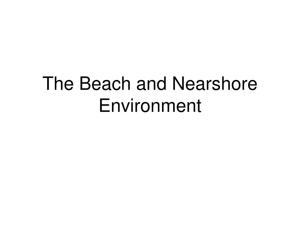 The Beach and Nearshore