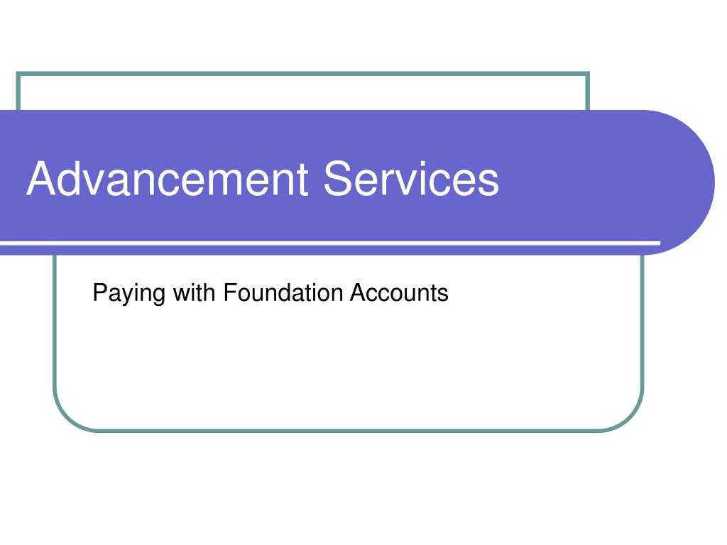 Advancement Services
