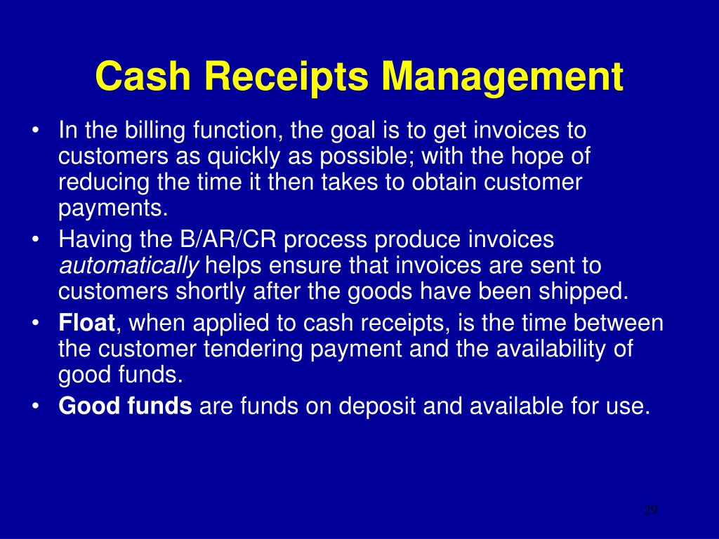 Cash Receipts Management