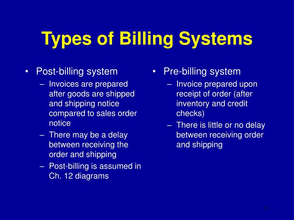 Post-billing system