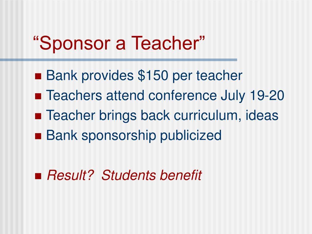 """""""Sponsor a Teacher"""""""