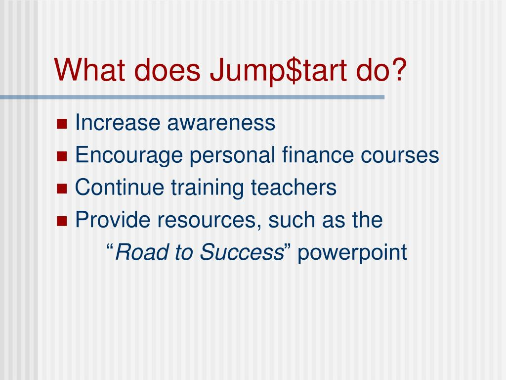 What does Jump$tart do?