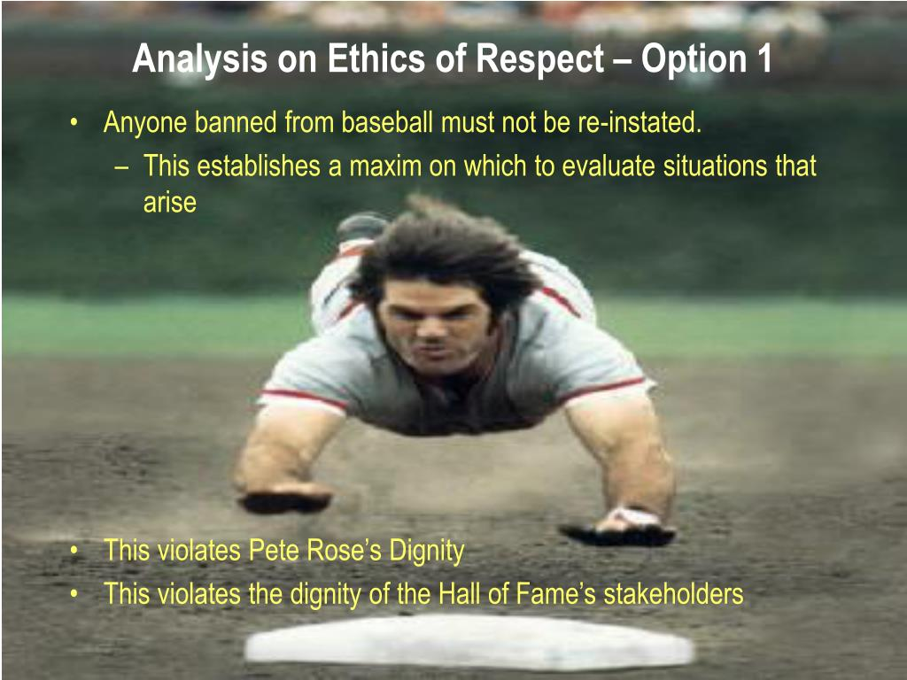 Analysis on Ethics of Respect – Option 1