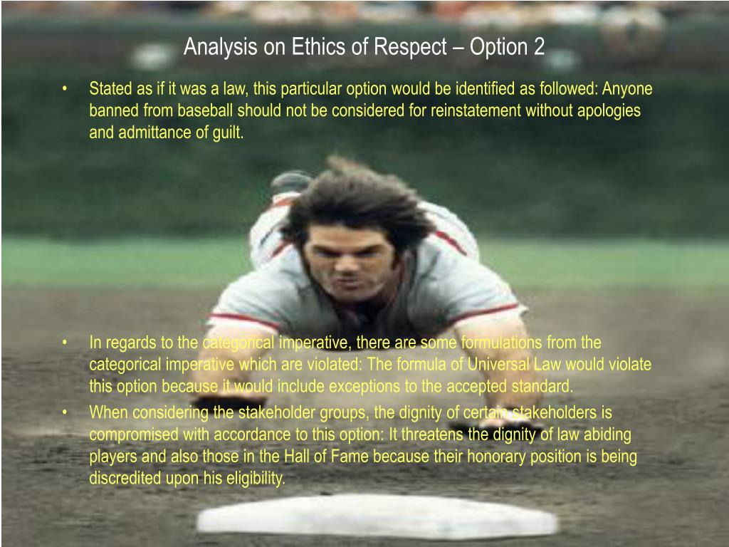 Analysis on Ethics of Respect – Option 2