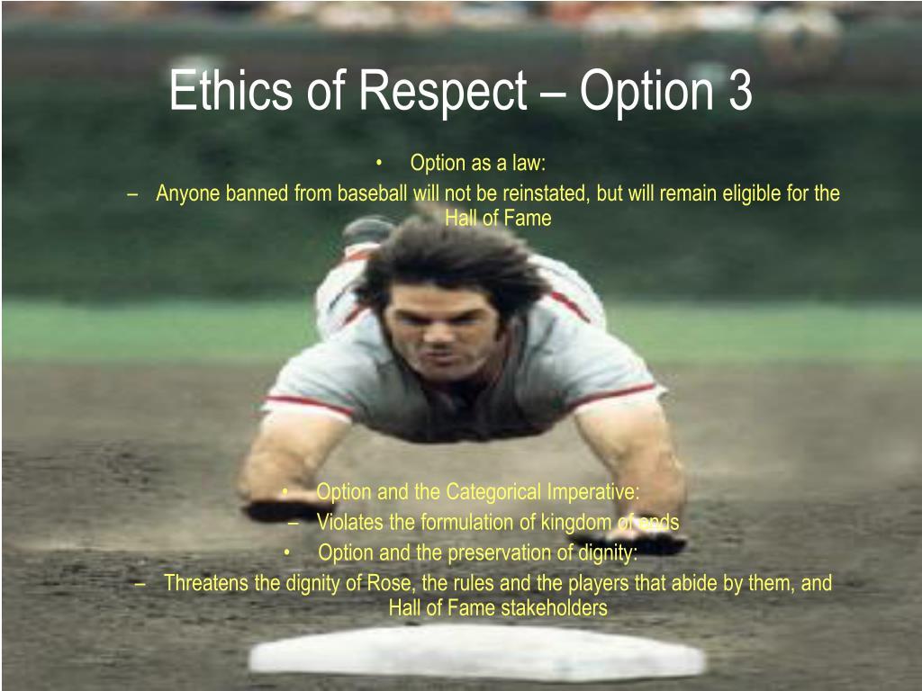 Ethics of Respect – Option 3