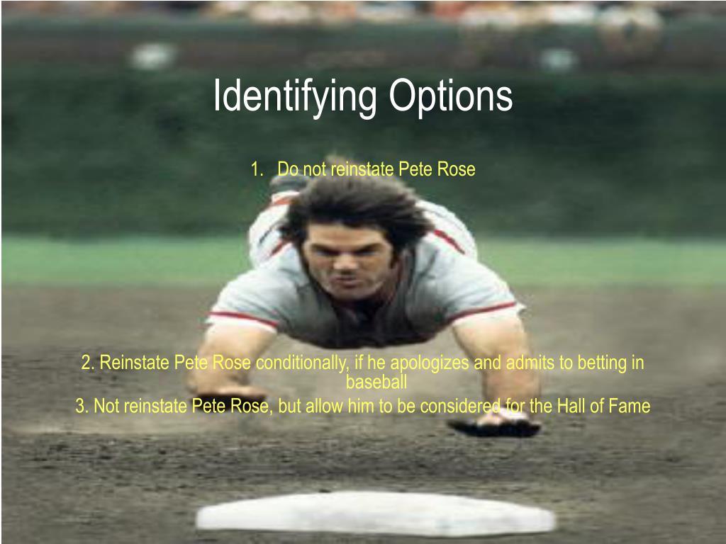 Identifying Options