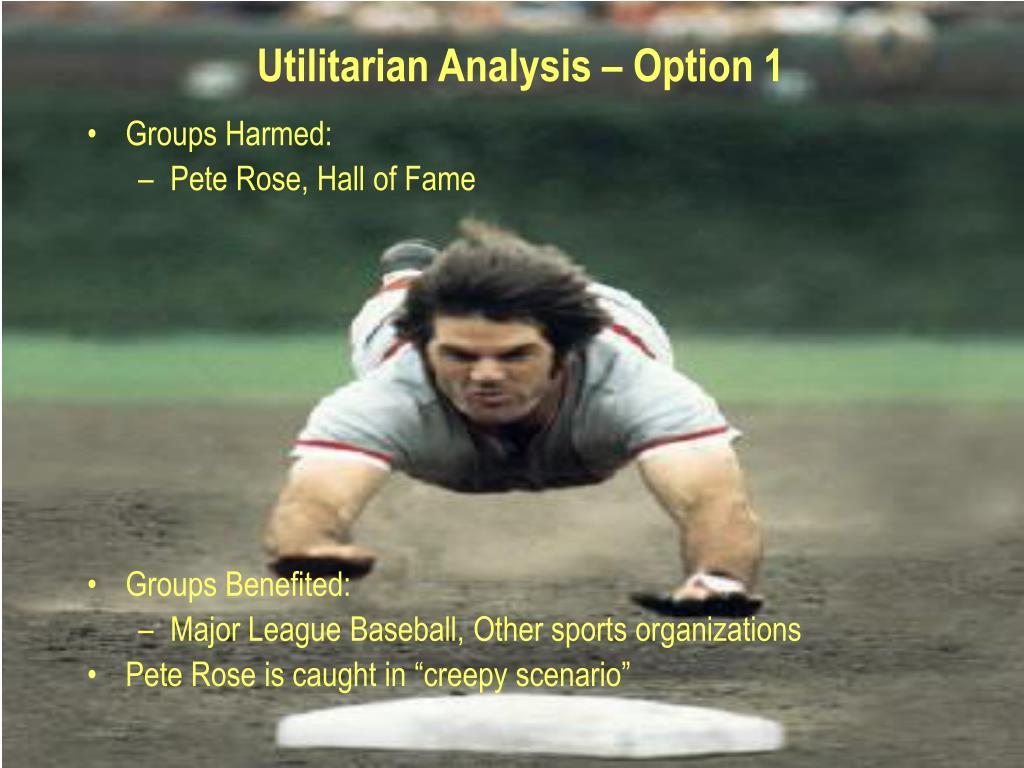 Utilitarian Analysis – Option 1