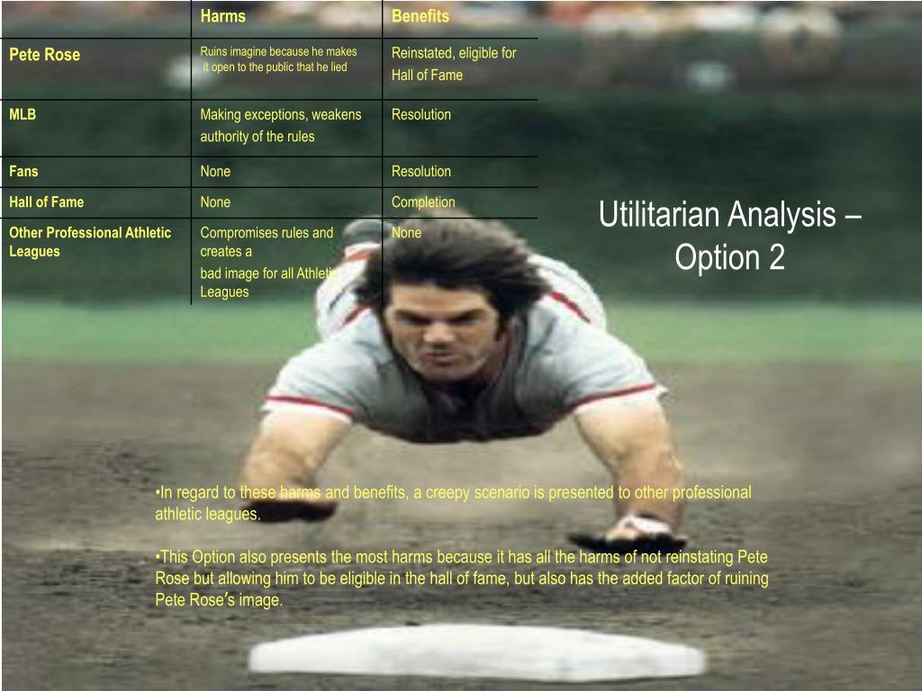 Utilitarian Analysis –