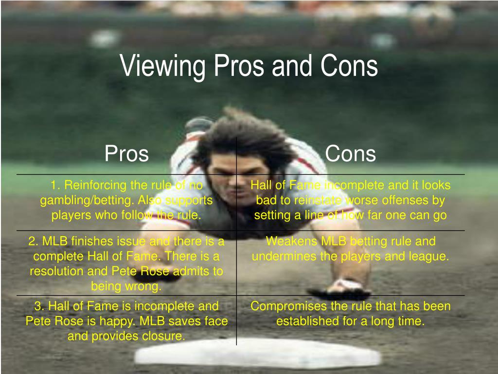 Viewing Pros and Cons