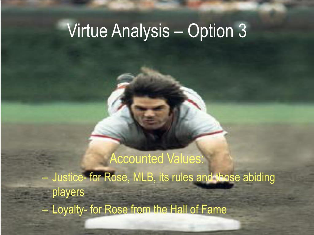 Virtue Analysis – Option 3