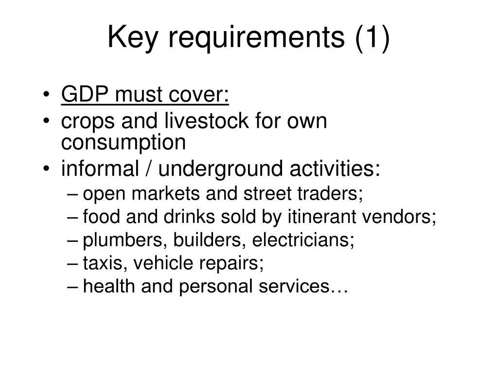 Key requirements (1)
