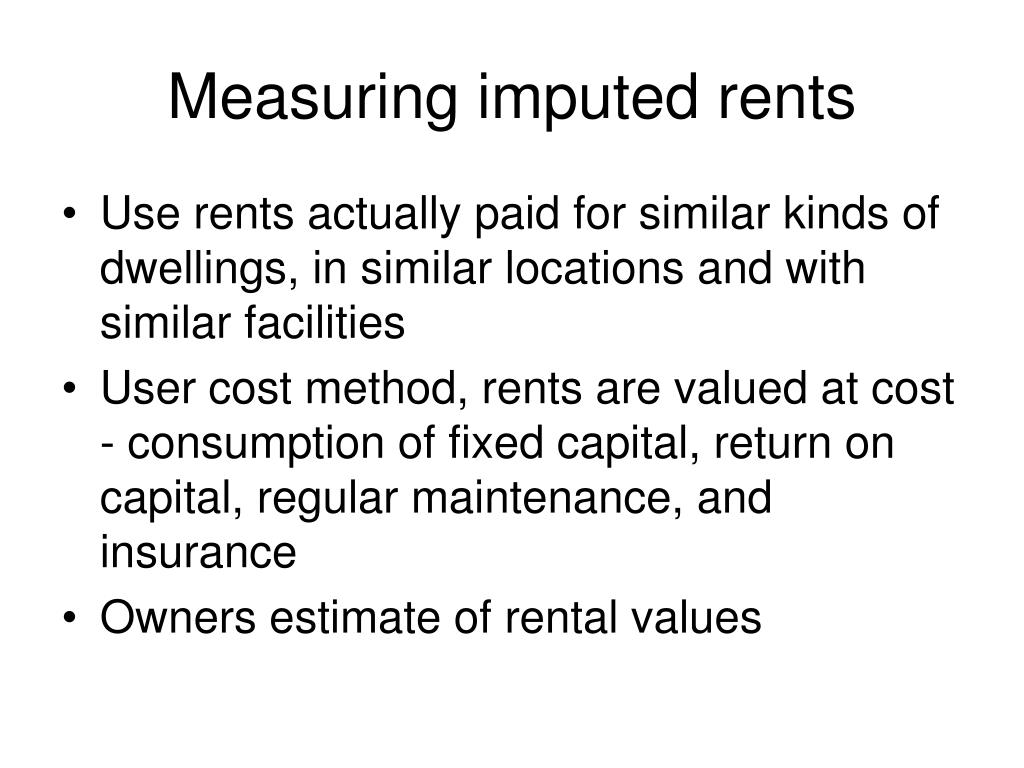 Measuring imputed rents