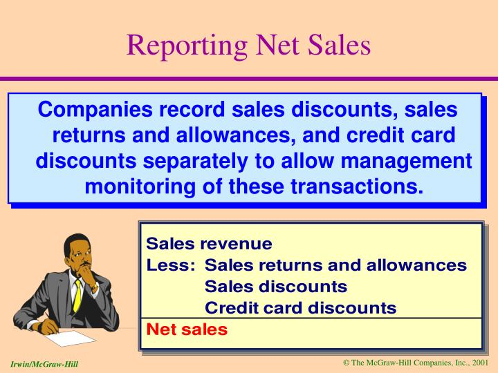 Reporting net sales