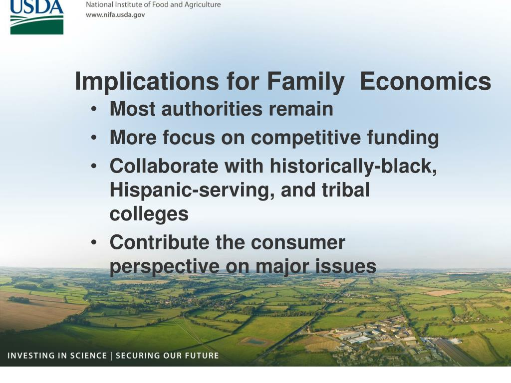 Implications for Family  Economics
