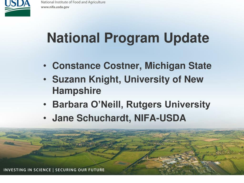 National Program Update