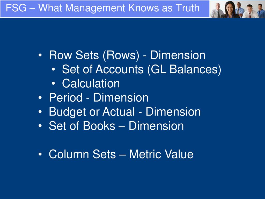 FSG – What Management Knows as Truth