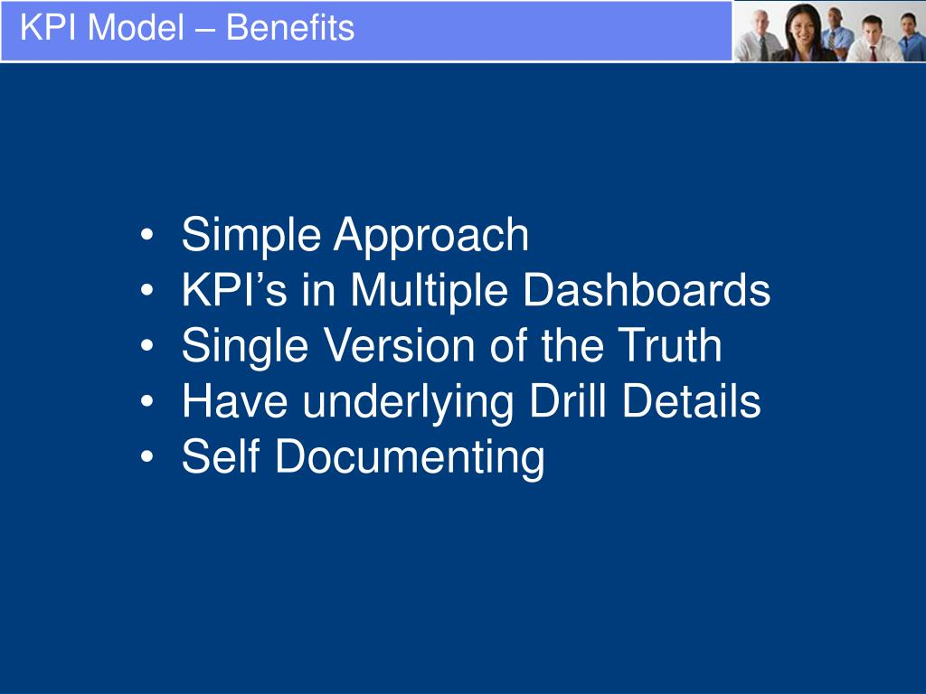 KPI Model – Benefits