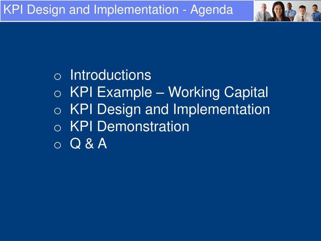 KPI Design and Implementation - Agenda