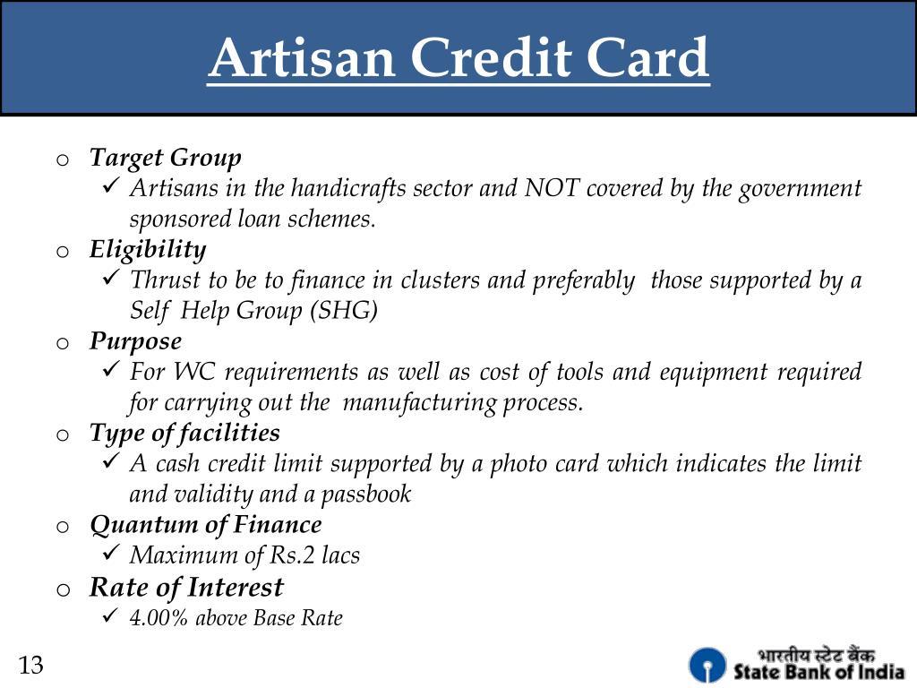 Artisan Credit Card