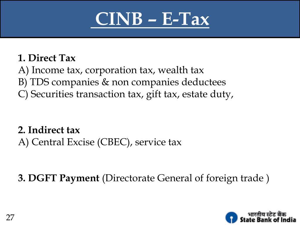 CINB – E-Tax