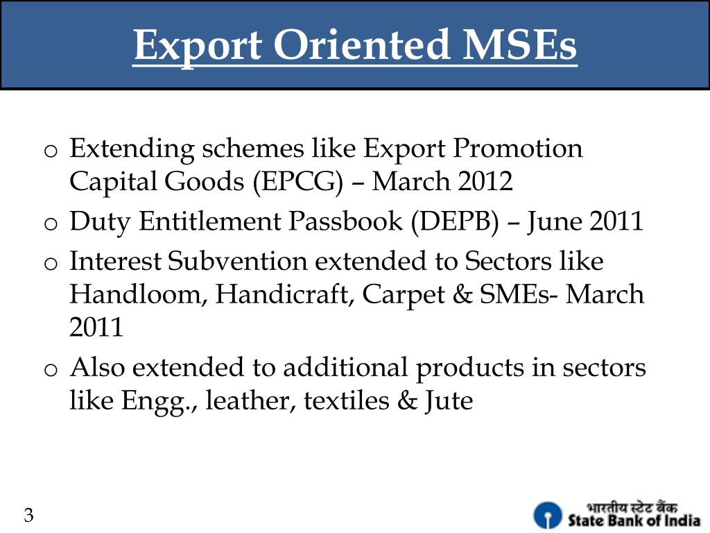 Export Oriented MSEs