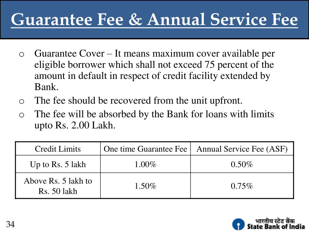 Guarantee Fee & Annual Service Fee