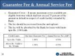 guarantee fee annual service fee