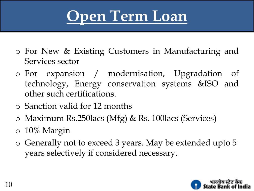 Open Term Loan