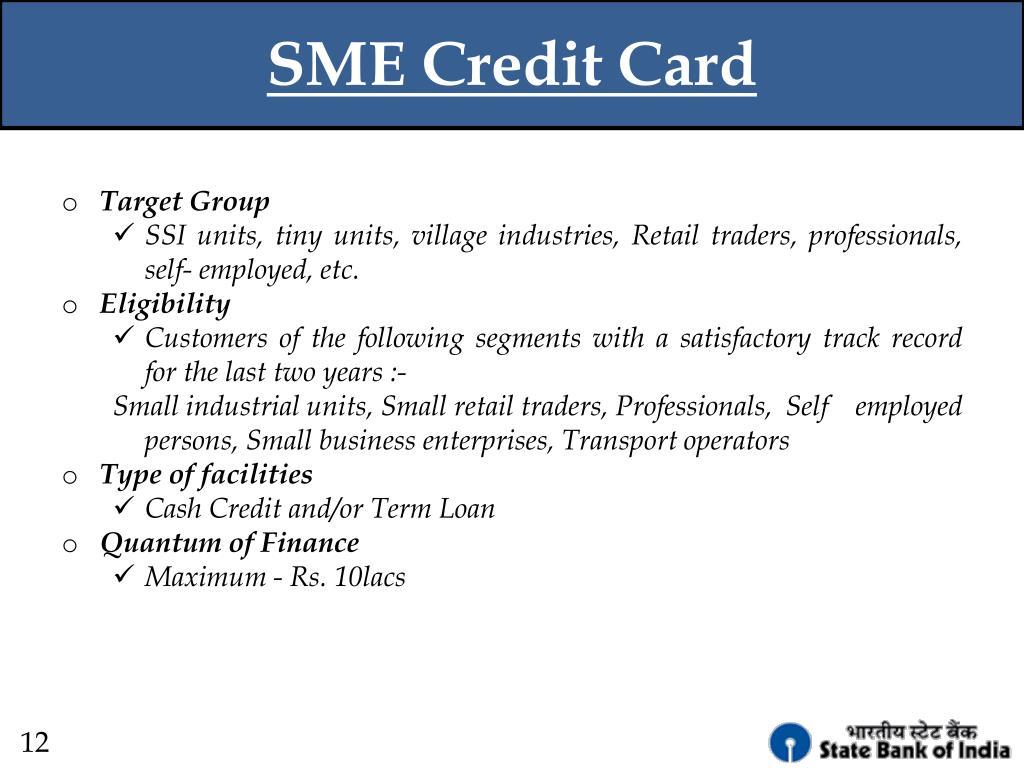SME Credit Card