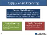 supply chain financing
