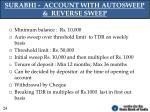 surabhi account with autosweep reverse sweep